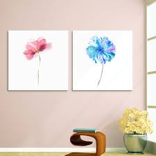 ARTRYST  Panel Watercolor Abstract Flower Art Prints Poster Wall - Canvas paintings for kids rooms