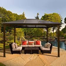 Sun Shelter Gazebo Rona by Metal Roof Gazebo Plans Roofing Decoration