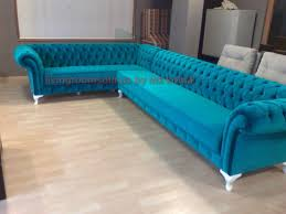 Chesterfield Corner Sofas Turquoise Velvet Chesterfield Corner Sofa Exclusive Design Ideas