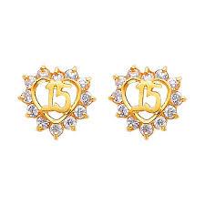 sweet earrings yellow sweet 15 cz stud earrings back