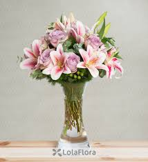 pink lilies lilies and roses velvet
