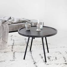 house doctor juco coffee table black wood metal living and co