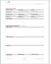 incident report template itil it incident report template word professional and high quality