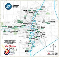 Manitoba Canada Map by Winnipeg Transit System Map Winnipeg U2022 Mappery