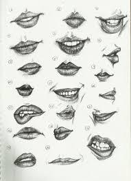drawn smile lip pencil and in color drawn smile lip
