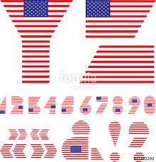 letters m n o p american flag alphabet
