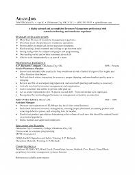 resume for a exle inventory clerk management resume exle waste manager resume