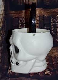 halloween ceramic molds empire blow mold skeleton skull halloween candy pail bucket from