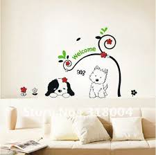 Aliexpresscom  Buy Two Lovely Dogs Vinyl Wall Sticker Decal Kids - Cheap wall stickers for kids rooms