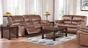 cindy crawford recliner sofa cindy crawford home alpen ridge tan 7 pc living room with reclining