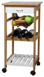 natural white kitchen trolley by urban port transitional
