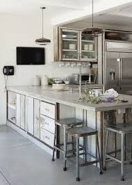 cuisine blanc cérusé plan de travail 35 exemples en béton ciré bois cérusé céruse et