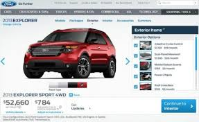 ford 2013 explorer the high performance 2013 ford explorer sport configurator is live