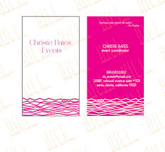 Event Business Cards Got A Brand Business Card For An Event Planner