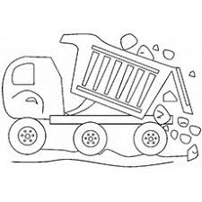 print coloring image trucks coloring and garbage truck
