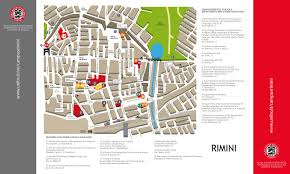 Rimini Italy Map by