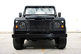 land rover defender 2017 tomboys go rogue in this all black custom land rover defender