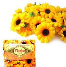 silk sunflowers 100 silk yellow sunflower gerbera flower heads