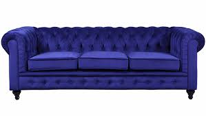 Navy Tufted Sofa by Furniture Navy Blue Classic Scroll Arm Velvet Tufted Sofa