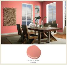 colorfully behr color of the month guava