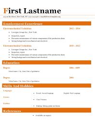 resume cv templates 411 to 416 u2013 free cv template dot org