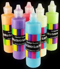 glowing liquid neon uv blacklight reactive dye paint black