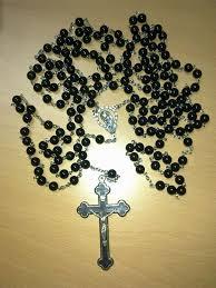 15 decade rosary 15 decade habit rosary black agate rosaries i