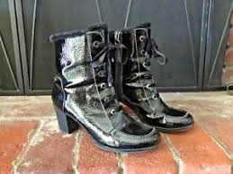 s winter boots size 9 s winter boots size 9 black patent leather sporto lace up