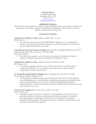 Sample Charge Nurse Resume by Sample Pediatric Nurse Resume Resume For Your Job Application