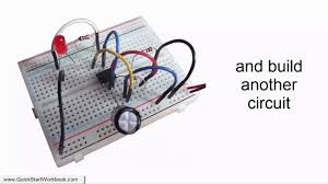 building electronic circuits on a breadboard electronics for