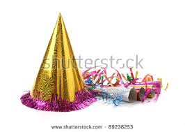 new years streamers new years party hat noisemaker streamers stock photo 89238253