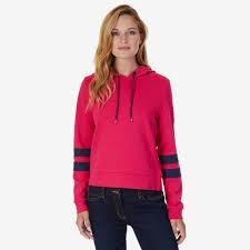nautica womens pullover arm stripe hoodie ebay
