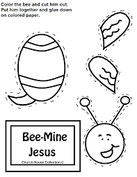 bee mine jesus cutout craft for valentines day
