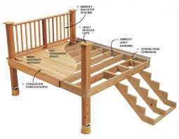 wood deck design with bench royalty free stock images image within