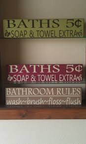 Primitive Country Bathroom Ideas Best 25 Bath Sign Ideas On Pinterest Diy Laundry Room Furniture