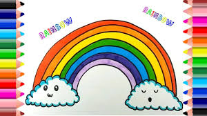 how to draw rainbow coloring pages kids learn drawing art
