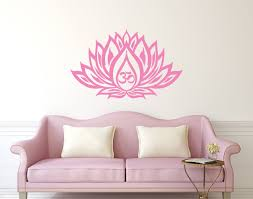 Moroccan Wall Decal by Lotus Flower Wall Decal Om Sign Vinyl Sticker Interior Home