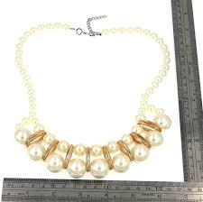 earrings necklace images Ivory big pearl collar statement earrings necklace comelyjewel JPG