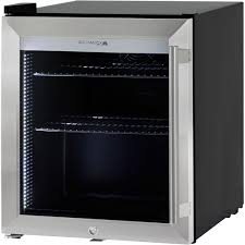 Stainless Steel Mini Fridge With Glass Door by Triple Glass Door Bar Fridge Tropical Rated Led Lighting And Lock
