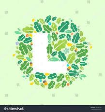 l letter logo circle oak leaves stock vector 391497703 shutterstock