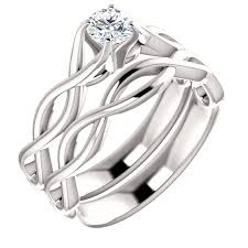 Infinity Wedding Rings by 1 2 Carat Diamond Infinity Symbol Engagement Ring