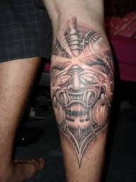 pretty aztec tattoo on men u0027s calf tattooshunter com