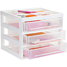 Desk Storage Drawers Plastic Storage Chest With 4 Drawers In Storage Drawers