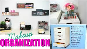 makeup storage u0026 organization ikea alex drawer dupe youtube