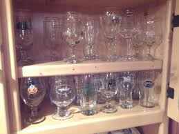 pint glass display cabinet beer glass collection