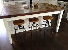 Rustic Kitchen Island Ideas Rustic Reclaimed Wood Kitchen Island With Stools Riothorseroyale
