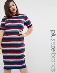 39 alice u0026 you striped rib knitted midi dress asoswants