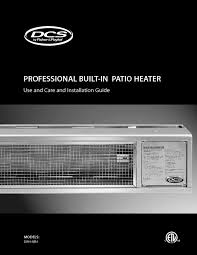 built in patio heater patio heater users guides from