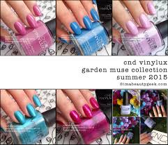 cnd vinylux garden muse collection 2015 swatches u0026 review