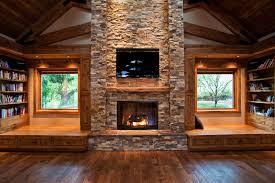 log cabin fireplace binhminh decoration